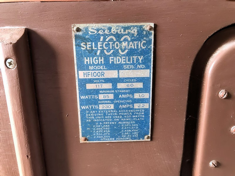 Original American Seeburg 100R Select-O-Matic High Fidelity Jukebox