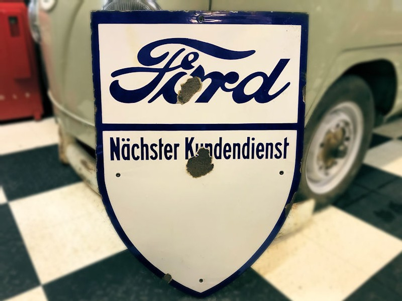 Original Ford Nachster Kundendienst enamel sign