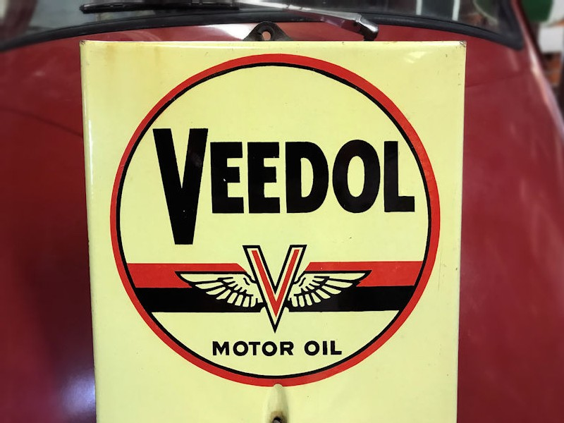 1954 Veedol motor oil thermometer