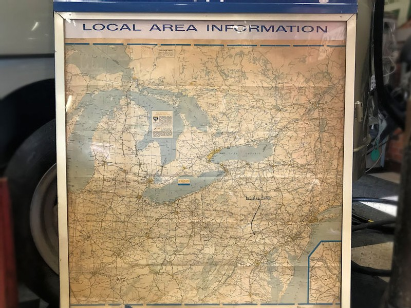 Esso travel center local area information display