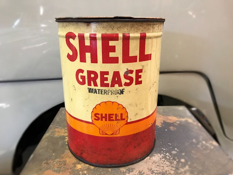 Vintage Shell grease tin