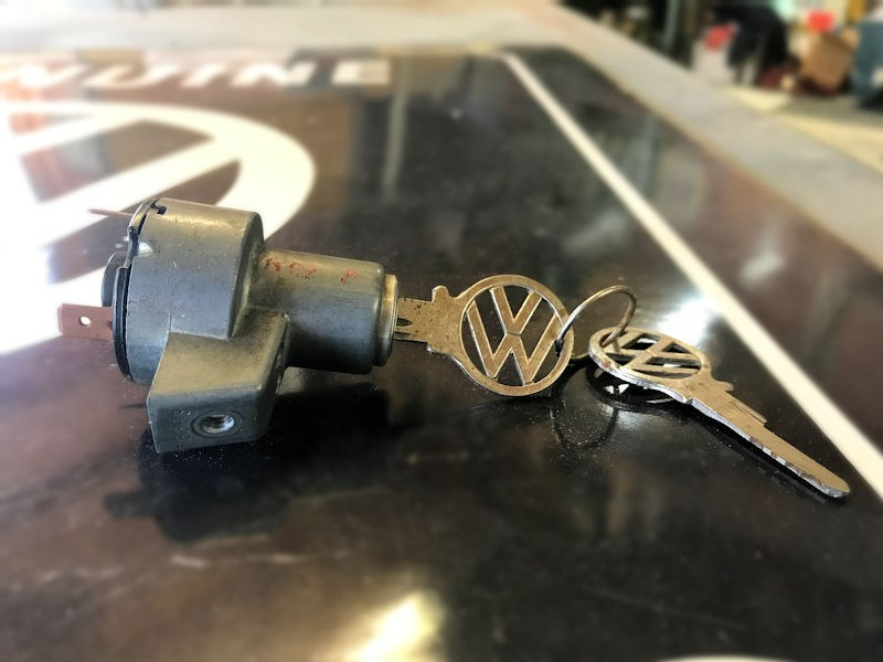 Original NOS VW bus ignition switch and T code keys