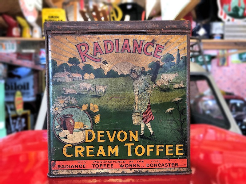Vintage Radiance Devon cream toffee tin