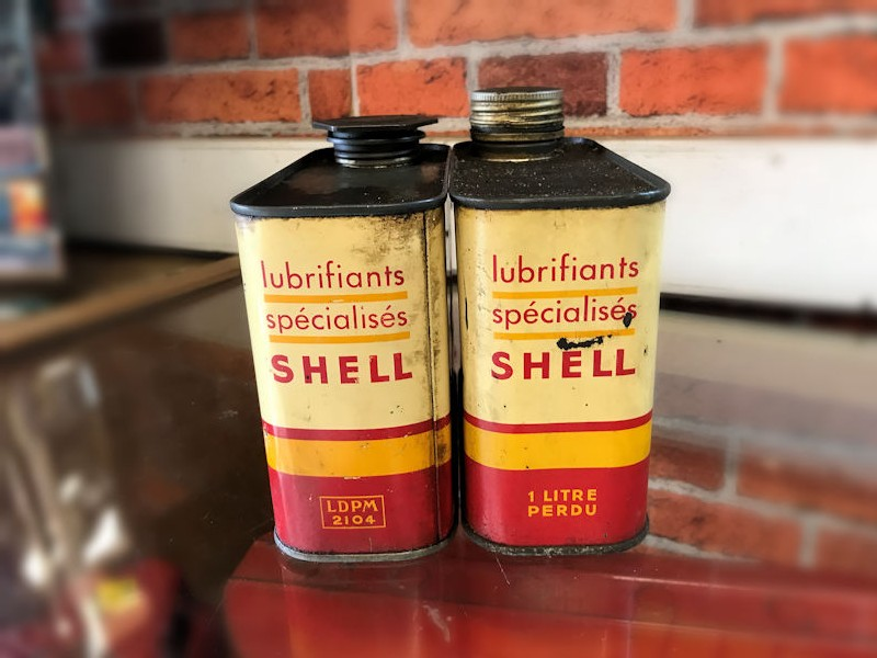Orignal 1 litre Shell oil tins