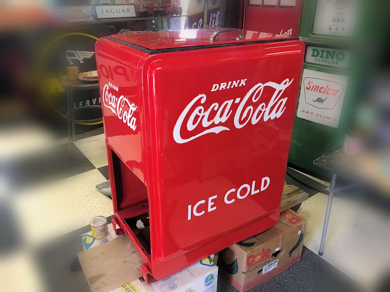 Restored original Westinghouse Junior Coca Cola Ice Chest