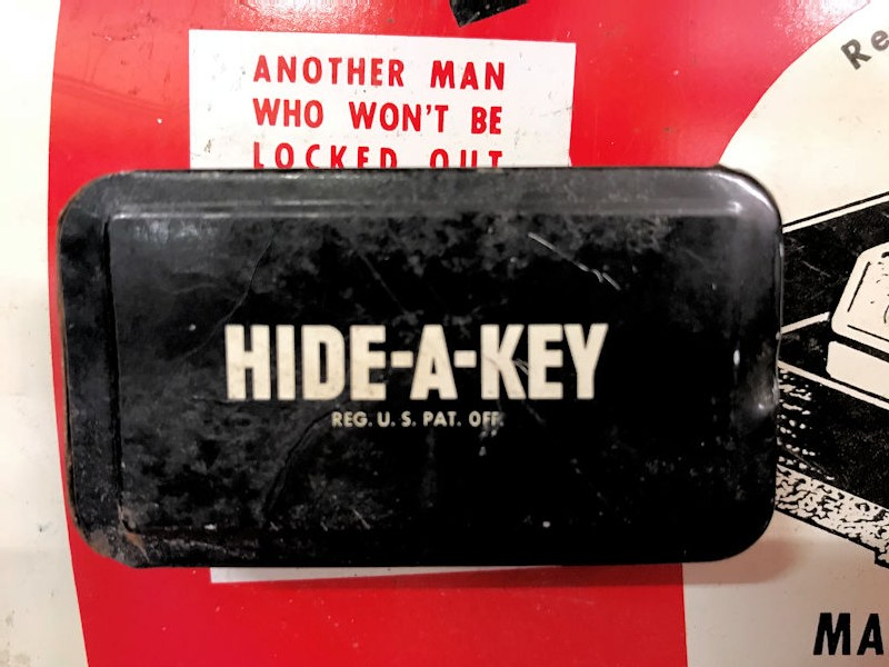 Circa 1960s Hide A Key counter display