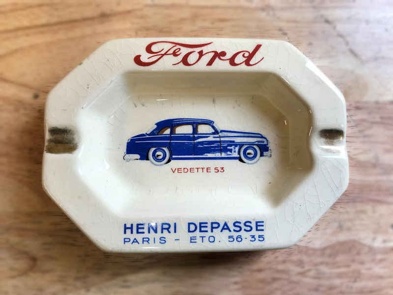 Original porcelain Ford ashtray