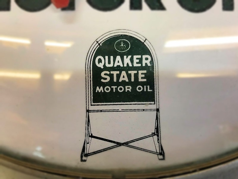Original Quaker State Motor Oil thermometer