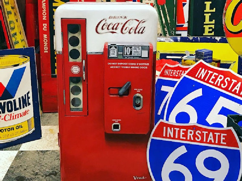 All original 1958 Vendo 56 Coca Cola Vending Machine