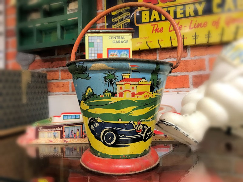Rare 1930s childrens beach bucket