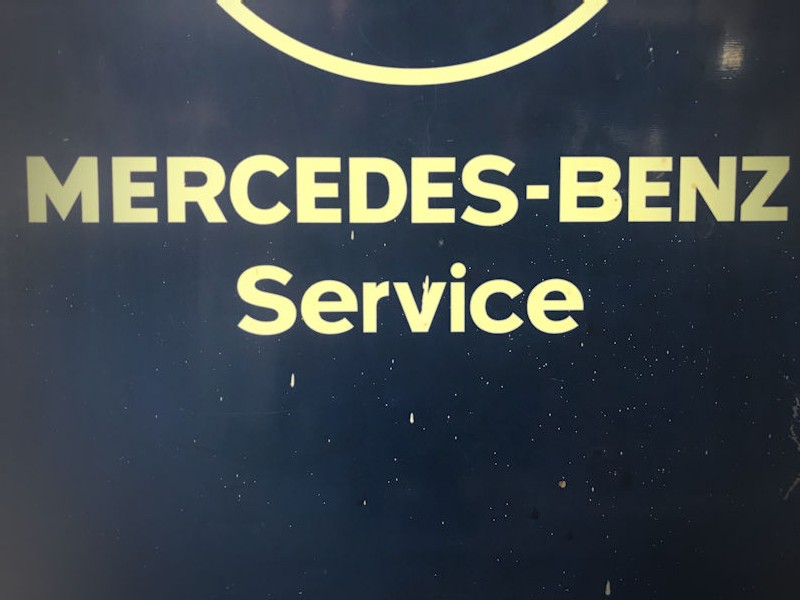 1960s original Mercedes dealership sign