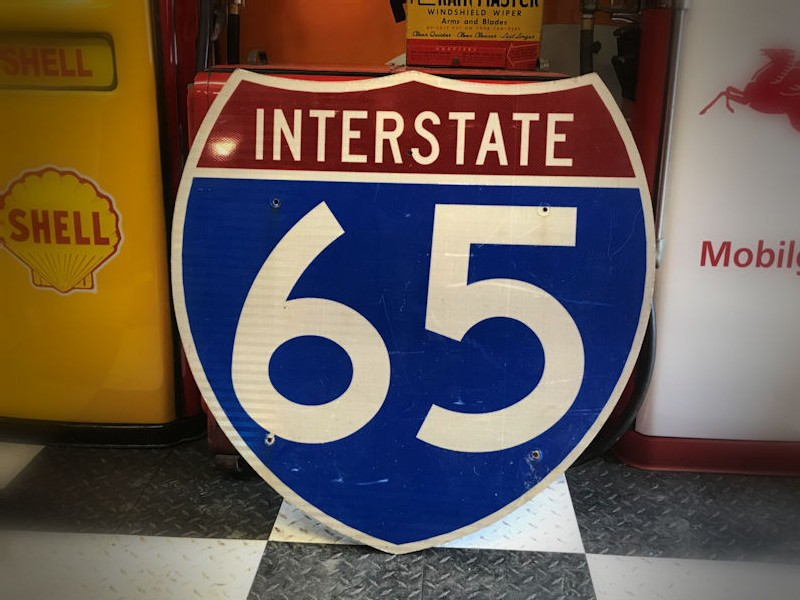 Original US Interstate 65 highway sign