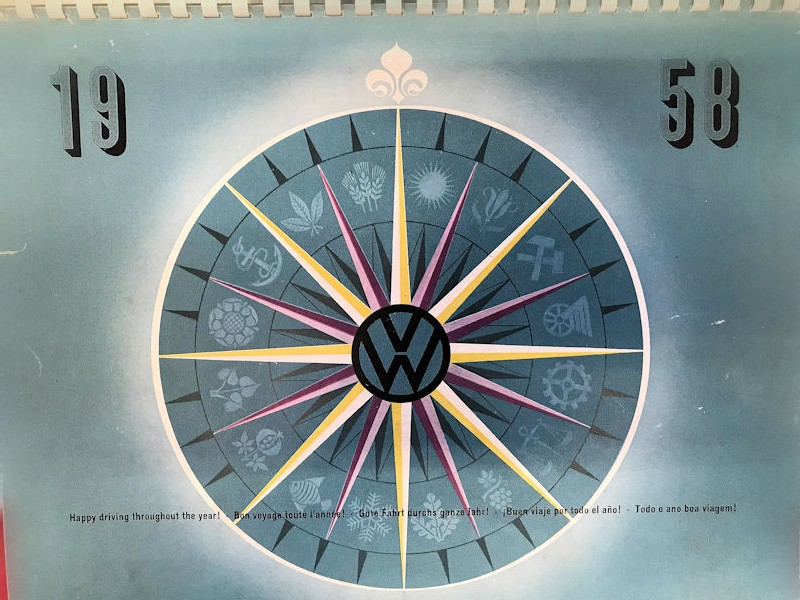 1958 VW dealership location book