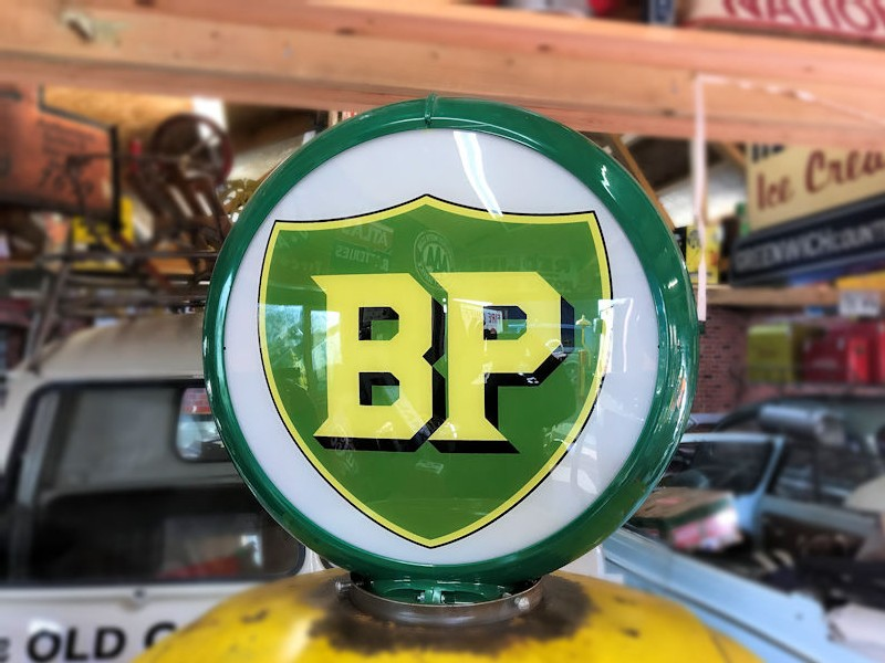 Restored original Bennett gas petrol pump