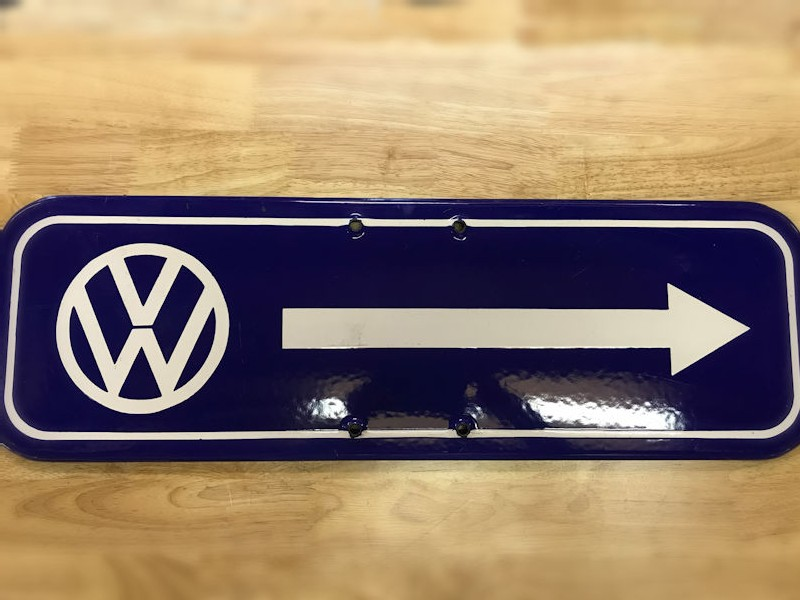 Original enamel VW dealership sign