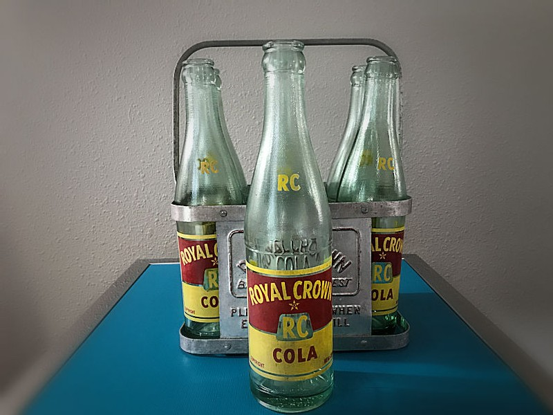 Rare original Royal Crown 6 pack carrier and bottles