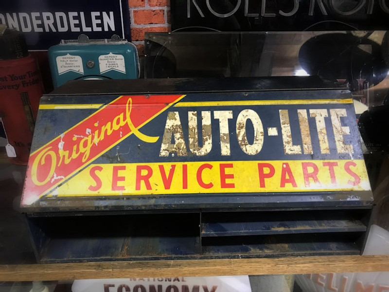Original 1940s Auto Lite Service Parts counter display