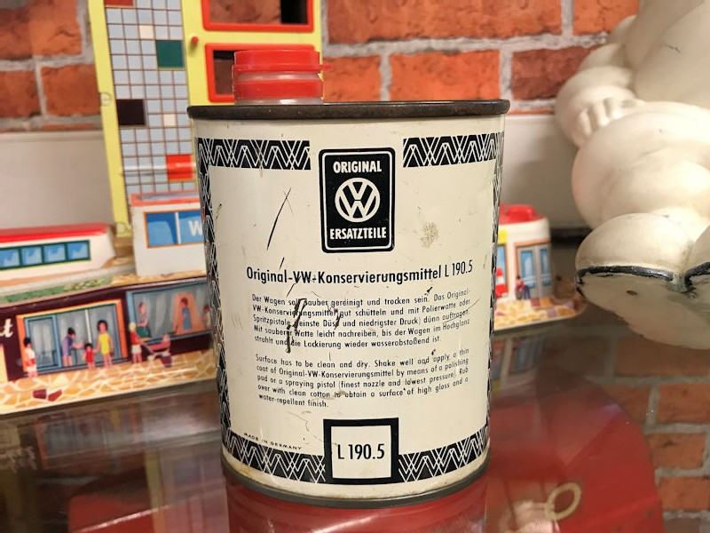 VW polish tin can