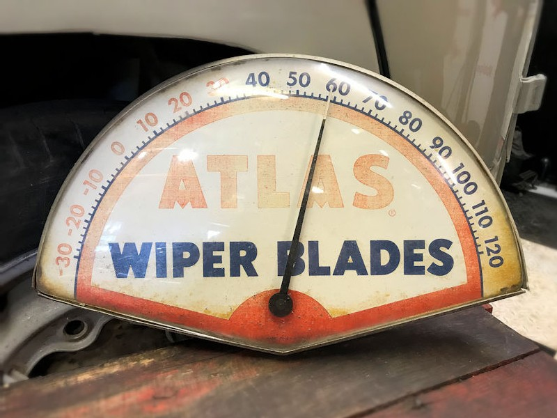 Original Atlas wiper blades thermometer