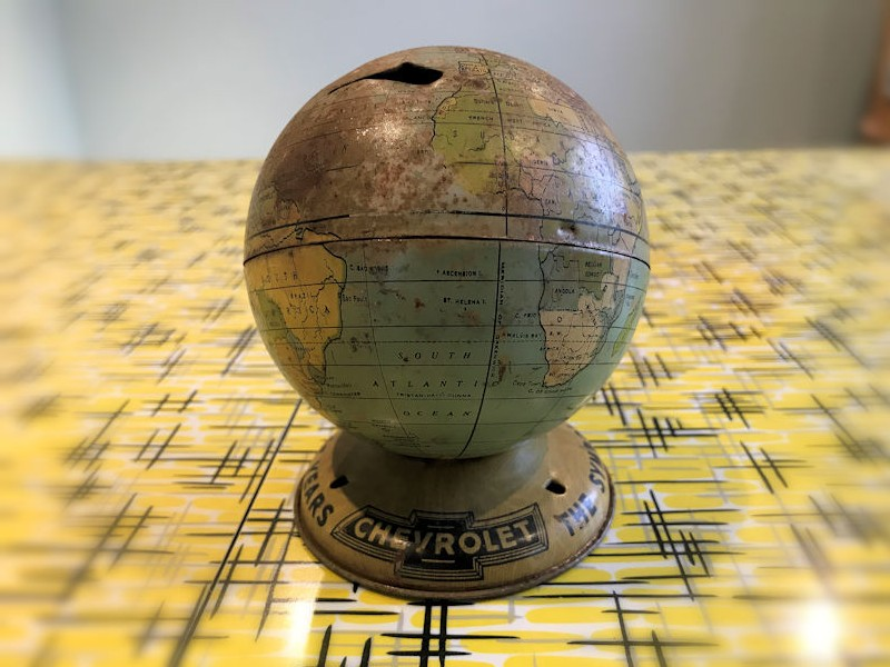 Chevrolet globe money tin
