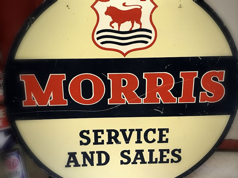 Vintage Franco Morris Service and Sales tin sign