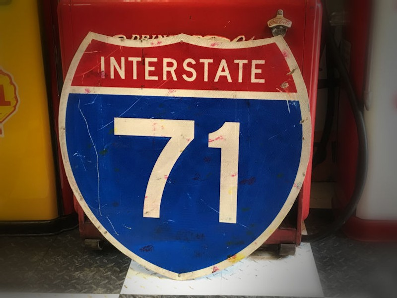 Original US Interstate 71 highway sign