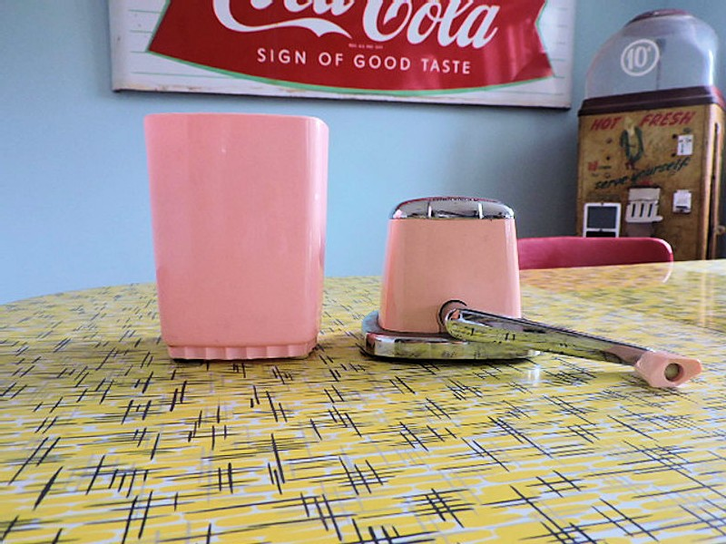 Original vintage American Swing A Way pink ice crusher