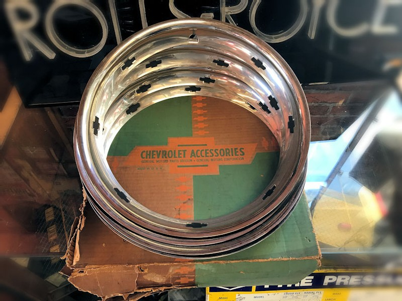 New old stock NOS 14 inch Chevrolet beauty rings