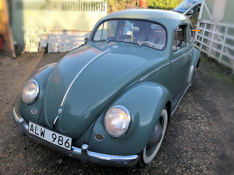 1957 agave green VW Oval Beetle