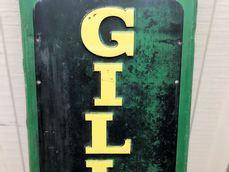 1948 Gillette tires embossed tin sign