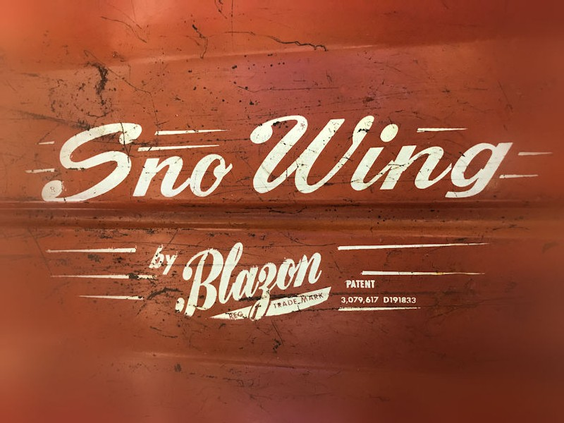 1950s American Sno Wing by Blazon childrens sledge
