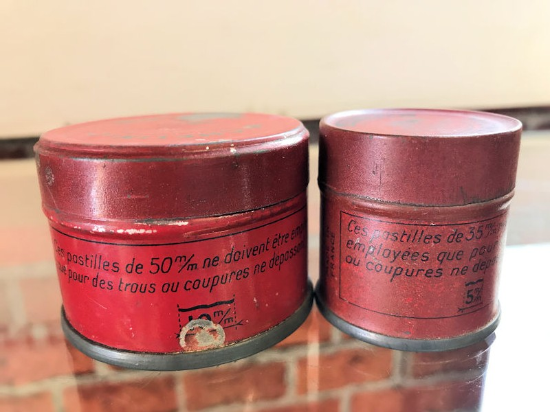 1930s Michelin Panelle and Pagaie tire repair patches tins