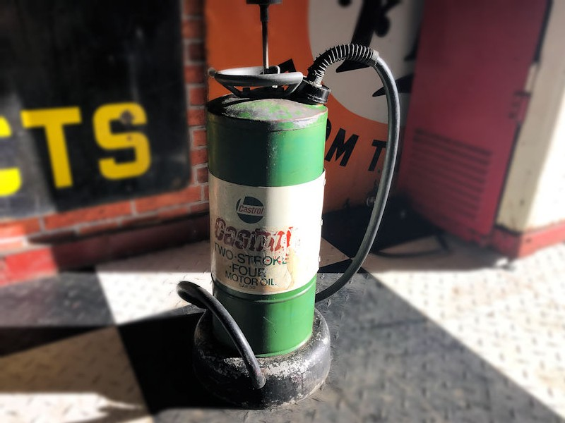 Original two stroke Castrol four quart dispenser