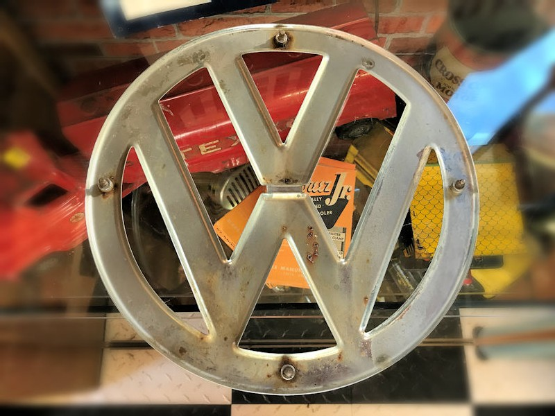 Original 12 inch VW split screen bus front emblem