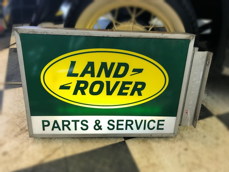 Original Land Rover dealership lightbox