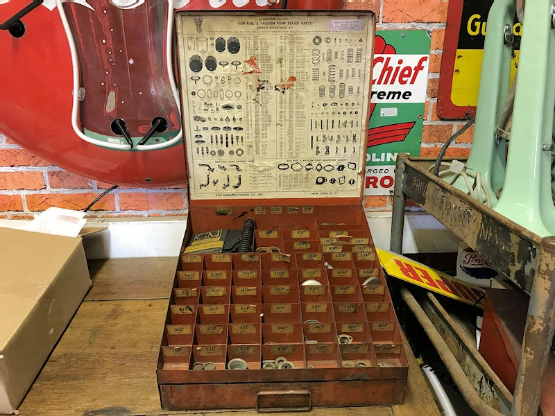 Original Kem Repair Parts garage display