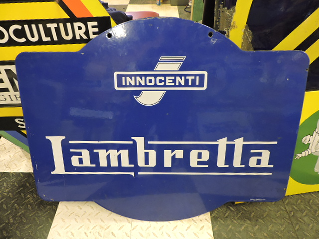 Double sided Lambretta sign
